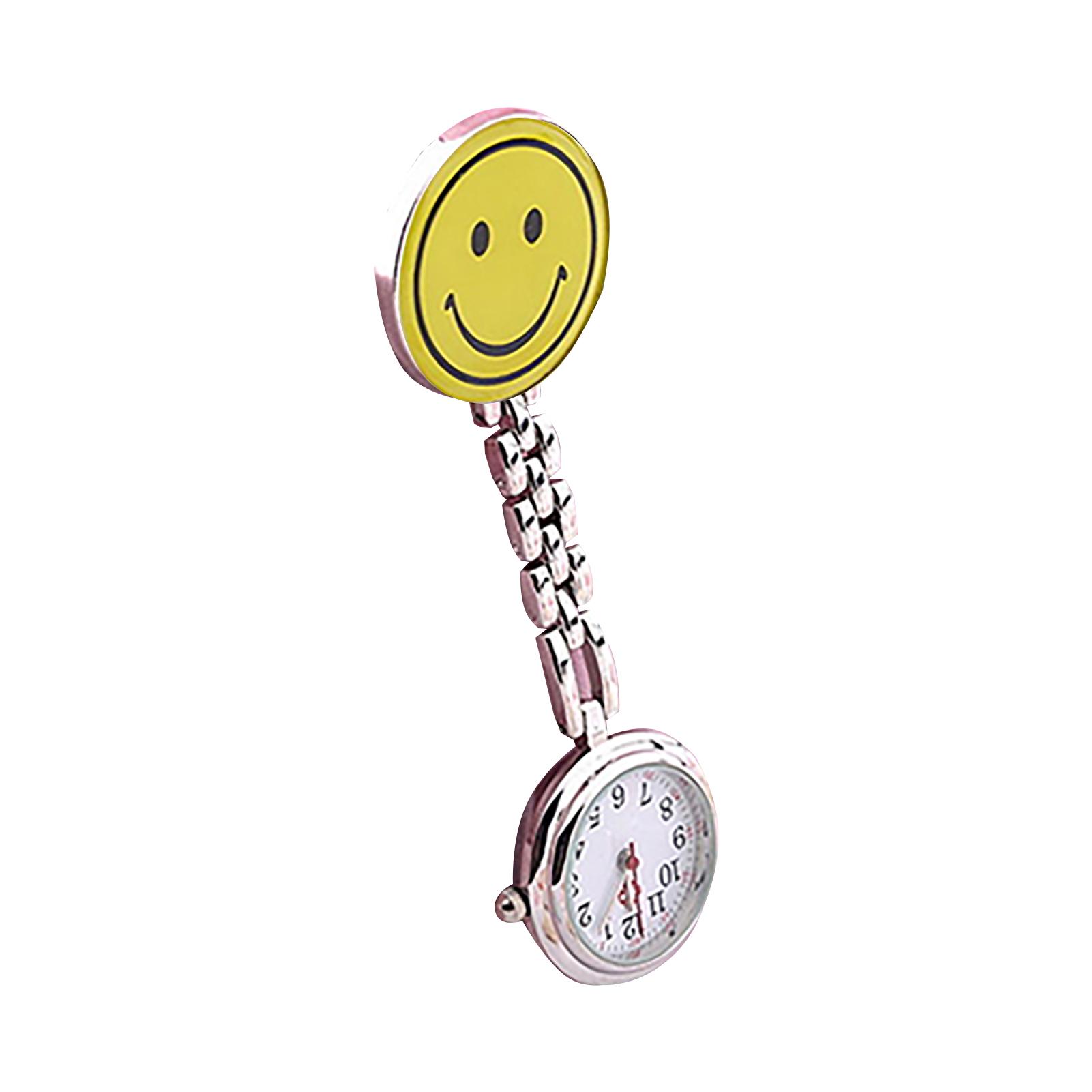 Women-Butterfly-Smile-Face-Analog-Quartz-Clip-On-Brooch-Pocket-Nurse-Watch-Hot thumbnail 15