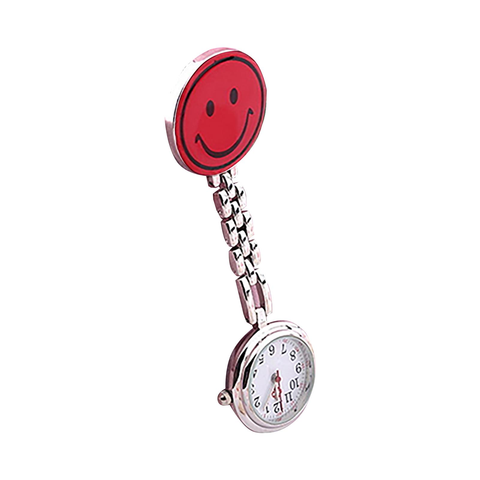 Women-Butterfly-Smile-Face-Analog-Quartz-Clip-On-Brooch-Pocket-Nurse-Watch-Hot thumbnail 14