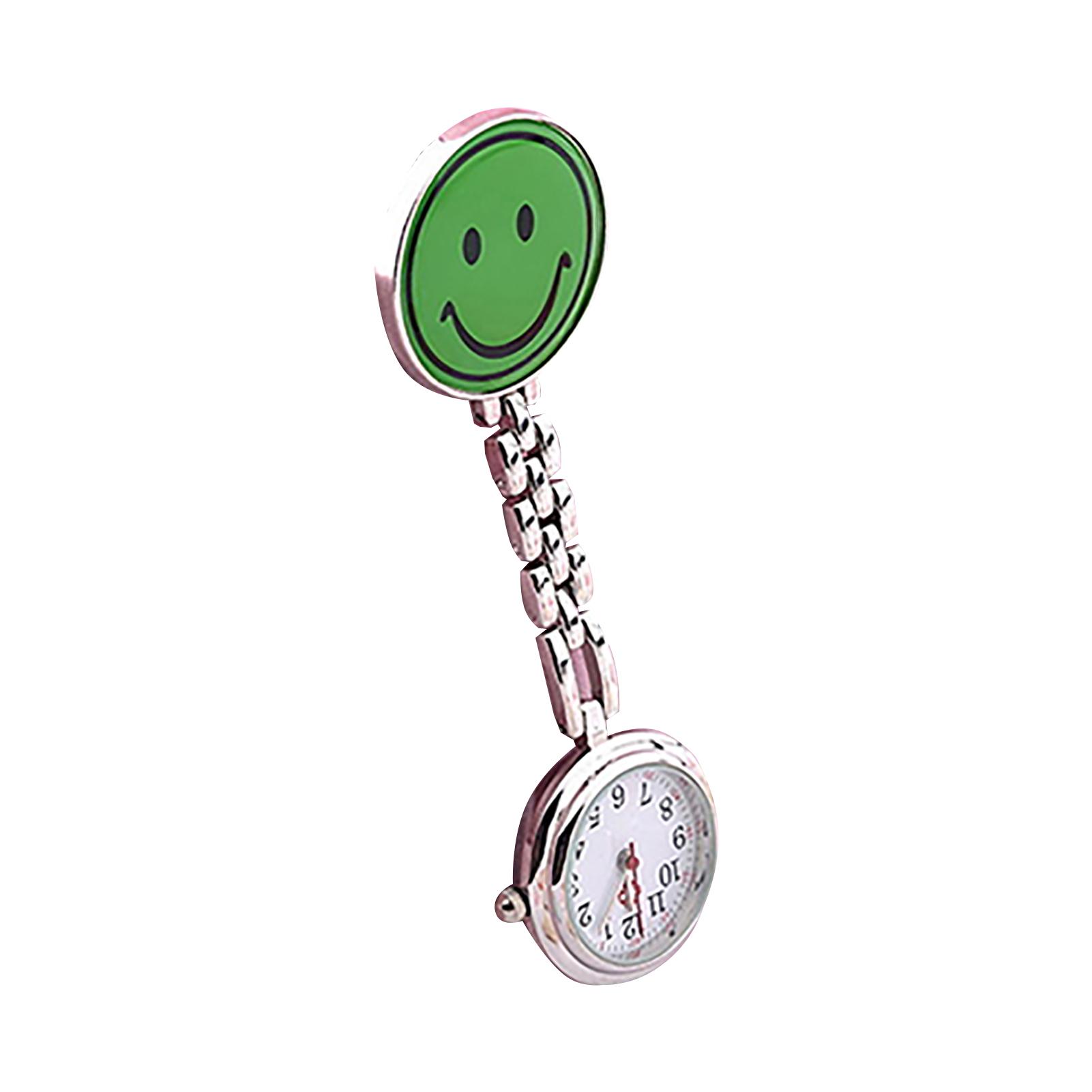 Women-Butterfly-Smile-Face-Analog-Quartz-Clip-On-Brooch-Pocket-Nurse-Watch-Hot thumbnail 17