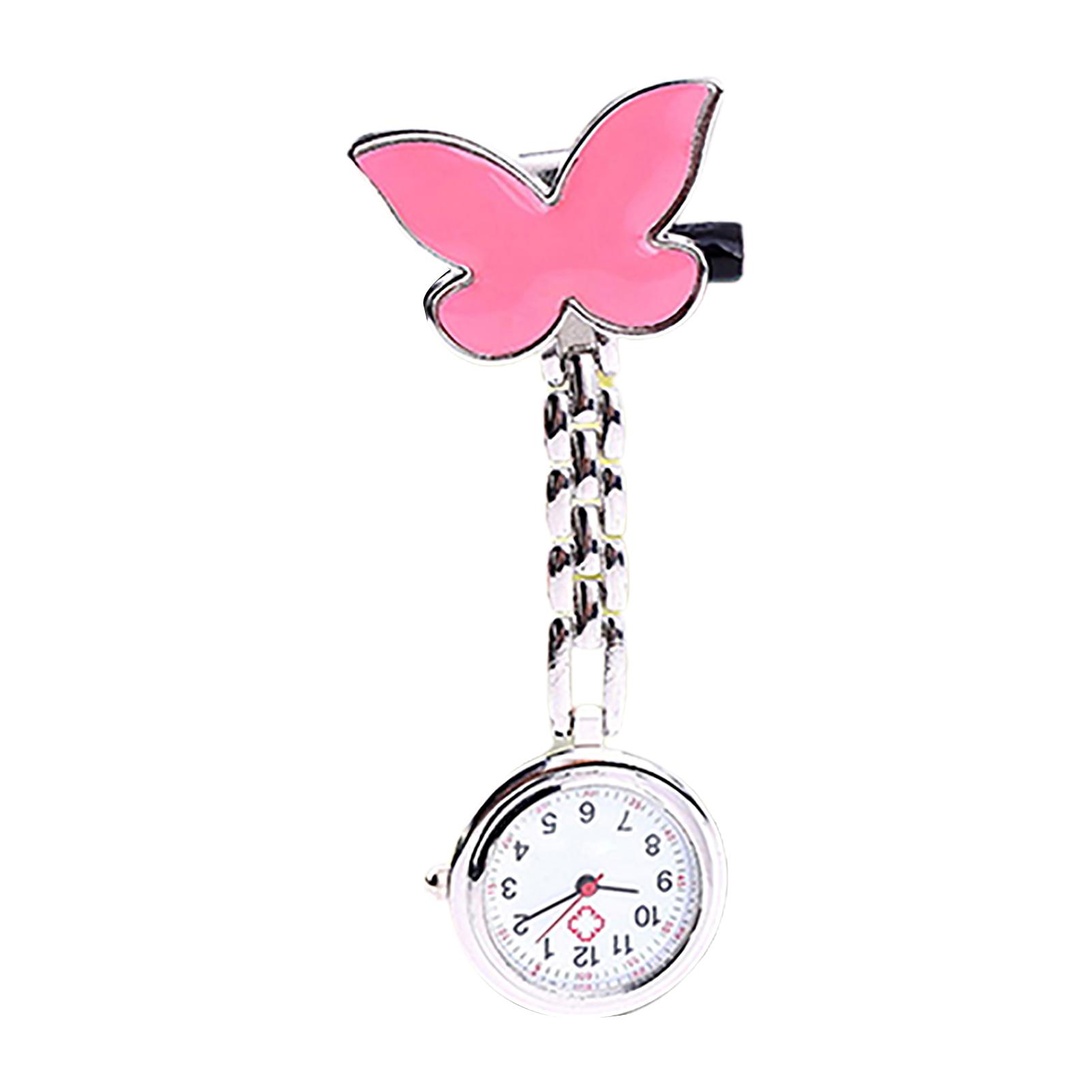 Women-Butterfly-Smile-Face-Analog-Quartz-Clip-On-Brooch-Pocket-Nurse-Watch-Hot thumbnail 27